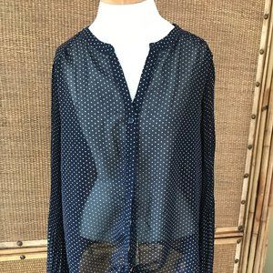 Pleione Top Blouse Sheer Large